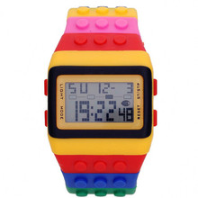 YCYS Special edition colorful bricks wrist watches unisex LED watch