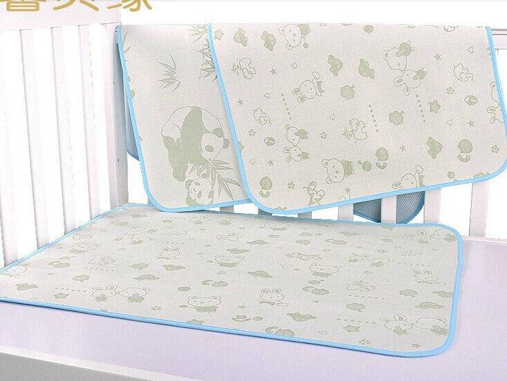 100 Bamboo Fiber Mattress Sheet Child Children Bed Mat Baby Crib Bedding Cot Ed Sheets Waterproof Grid Mesh In From Mother Kids