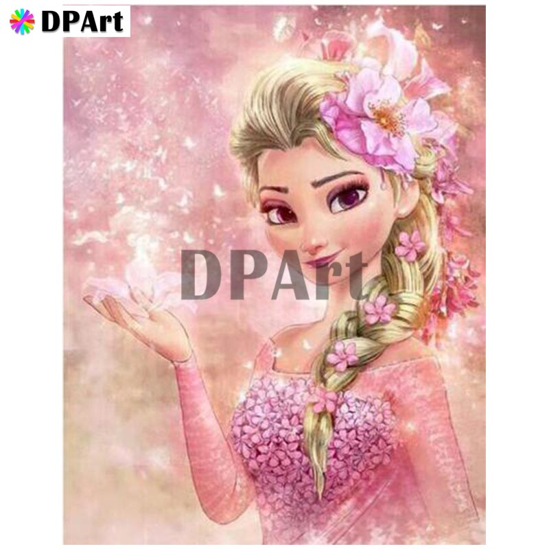 Diamond Painting 5D Full Square/Round Drill Cartoon Princess Daimond Embroidery Painting Cross Stitch Mosaic Picture M807Diamond Painting 5D Full Square/Round Drill Cartoon Princess Daimond Embroidery Painting Cross Stitch Mosaic Picture M807