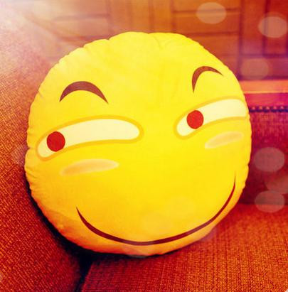 US $13 32 |Hot sale 40cm Soft Emoji Smiley Emoticons Pretty Round Cushion  Pillow Cute Sofa Stuffed Plush Toy Doll with 6 Different Styles-in Cushion