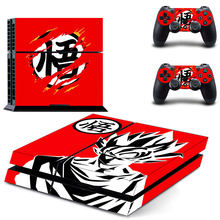 PS4 Designer Skin Game Console and 2 Controller Decal Vinyl Protective Covers Stickers For Sony PlayStation 4 - Dragon Ball Z(China)