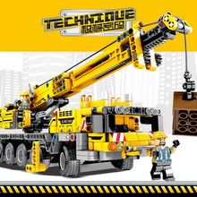 665Pcs City Engineering Technic Machine Crane Car Building Blocks Bricks DIY Educational Toys For Children цена в Москве и Питере