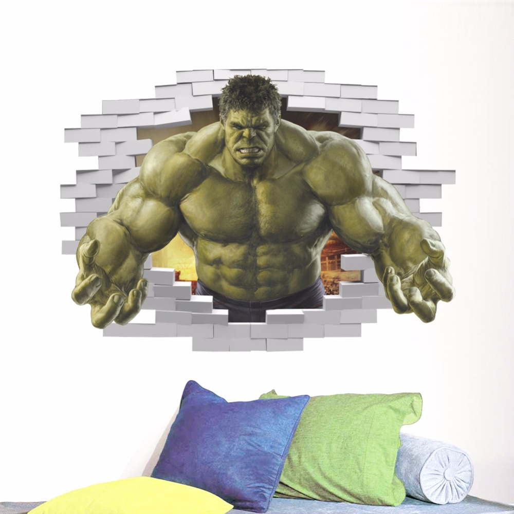 Industrious 3d Spiderman Wall Stickers For Boys Room Decoration Diy Cartoon Super Hero Movie Mural Art Kids Wall Decals Pvc Posters Wall Stickers