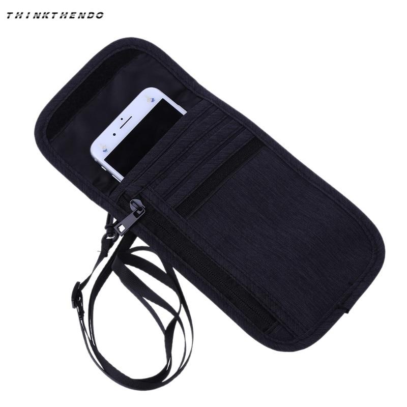 THINKTHENDO Fashion Men Women Travel Holder Neck Phone Pouch RFID Blocking Anti-Theft Portable Purse New Shoulder Bag 2018