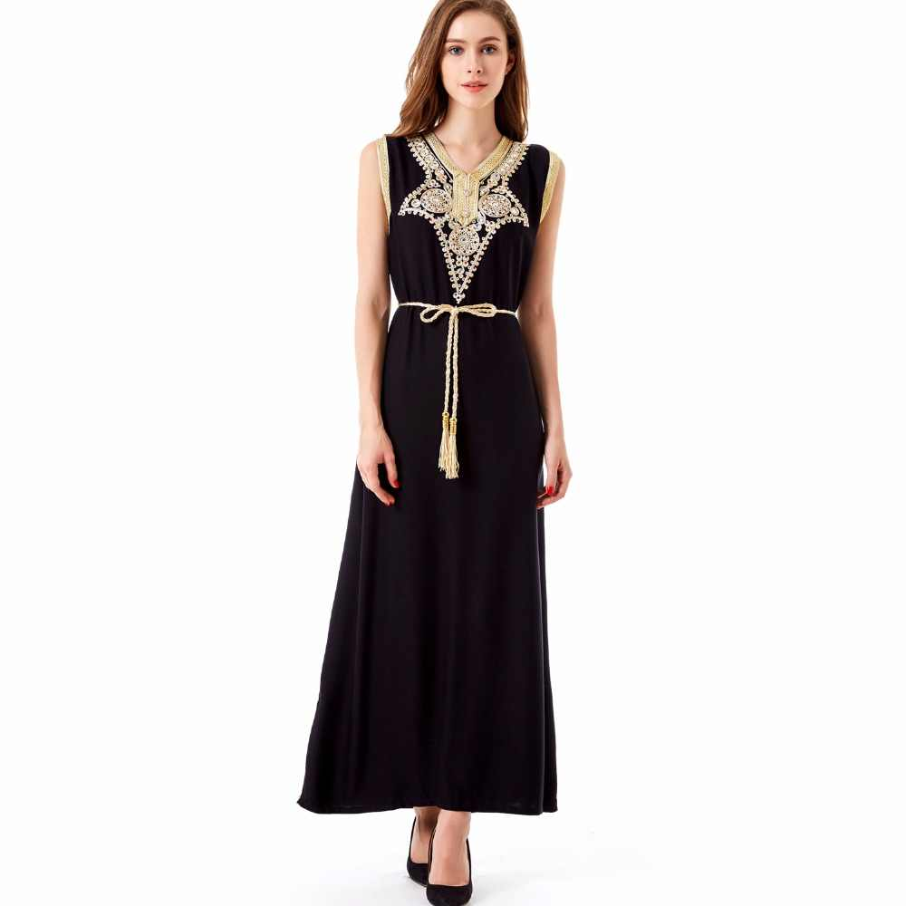 SUMMER boho style islamic muslim women clothing kaftan caftan bohemian  vintage embroidery long maxi dress vestidos 58a09c5d38ac