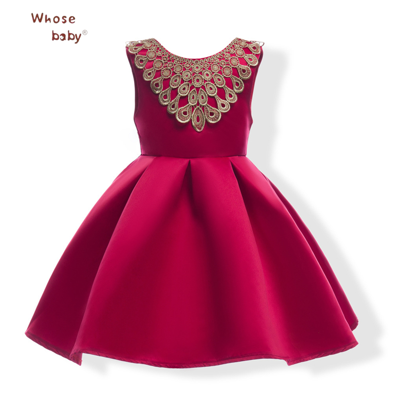 Wedding Girls Dress Embroidery Bow Tie Dresses For Girls vestido Children Clothing 2017 Fashion Party Princess Evening Dresses вечернее платье mermaid dress vestido noiva 2015 w006 elie saab evening dress