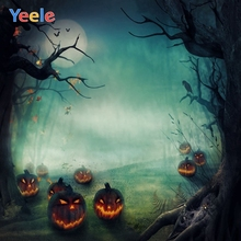 Yeele Happy Halloween Party Photography Background Pumpkin Lantern Photographic Backdrop Forest Photocall For Photo Studio цена