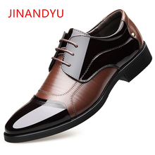 Height Increased 6CM Pointed Toe Decent Elegant Formal Men Dress Shoes 2018 Patent Leather Office Man Wedding Shoes Man Oxfords ruimosi new arrival man dress shoes patent leather crocodile oxfords brand pointed toe men s wedding flats for bridal as19