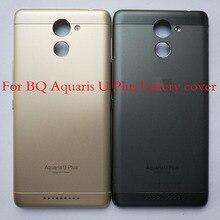 100% オリジナルバッテリー Bq Aquaris Bq u プラスバックドアハウジングカバーケースの交換部品 Uplus バックドアカバー