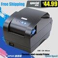 XP-365B этикетки штрих-код принтер термальный чековый или принтер этикеток 20 мм до 80 мм термальный принтер штрих-кода автоматическая зачистки
