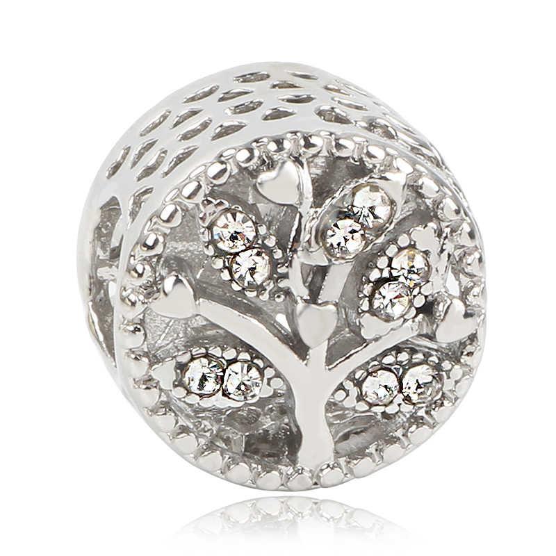 Nowe złote drzewo zamek sowa Tassel miłość koralik Fit oryginalny Pandora Charms srebro 925 bransoletka ozdoba biżuteria dla kobiet Man Making