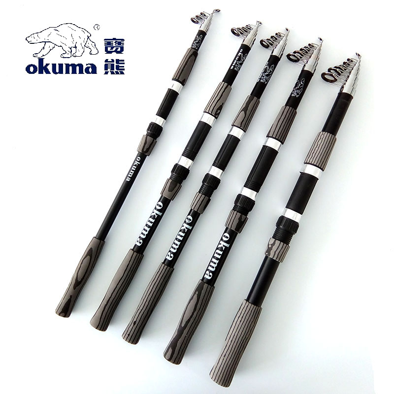 MiG 2.1 / 2.4 / 2.7 / 3.0 / 3.6 Meter Telescopic Fishing Rod Glass Fiber Spinning Fishing Tackle Okuma Sea Rod