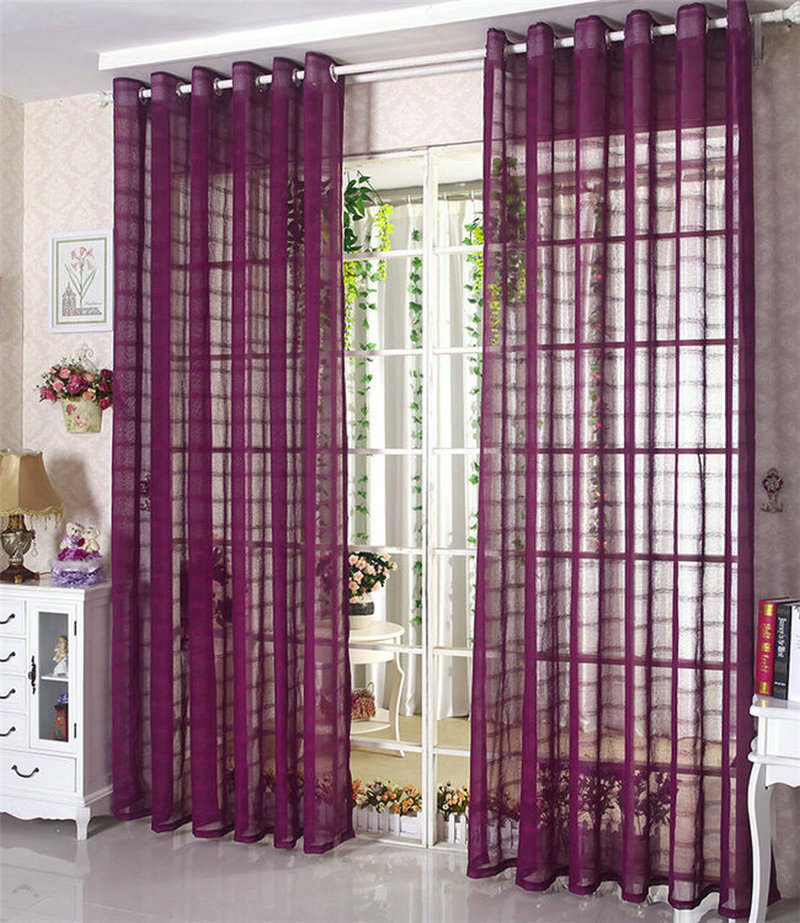 Huayin Velvet Linen Curtains Tulle Window Curtain For: Aliexpress.com : Buy Linen Tulle Sheer / Voile Curtains