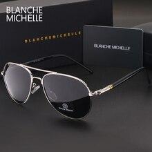 Blanche Michelle высококачественные поляризованные солнцезащитные очки мужские брендовые дизайнерские солнцезащитные очки для вождения UV400 Винтажные очки с коробкой