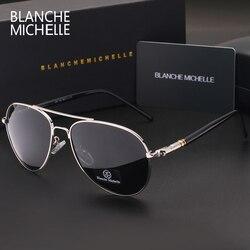2017 New fashion High Quality Polarized Sunglasses Men luxury Brand Designer Sunglass Driving UV400 vintage Sun Glasses with box