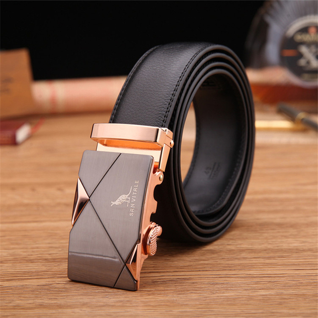 Genuine Leather Men's Belts of Various Types