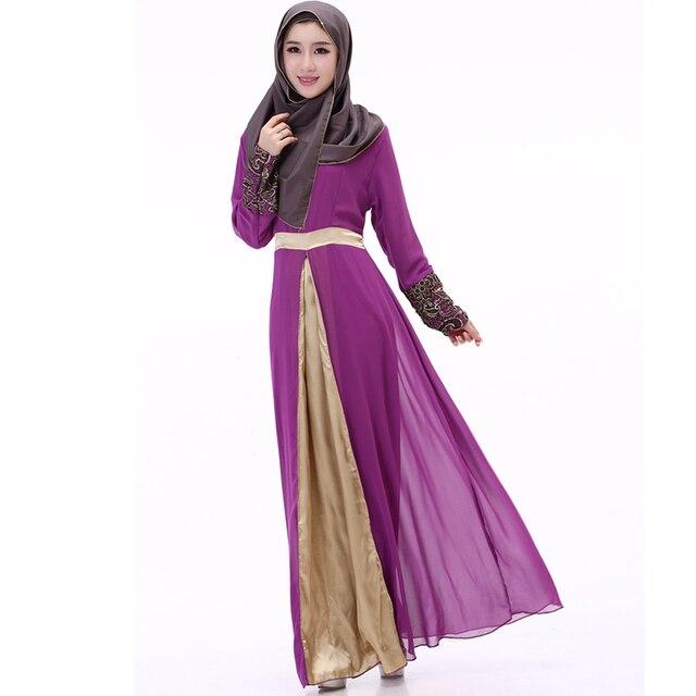 29bf2ae809e25 muslim dress noble satin islamic clothing abaya muslim women National Trend  Dubai Ladies Kaftan Malaysia Turkish Indian Clothing-in Islamic Clothing ...