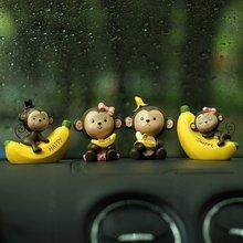 2pcs Car Ornaments Interior Decorations Couple for Living Room Cute Cartoon Decors Creative Accessories