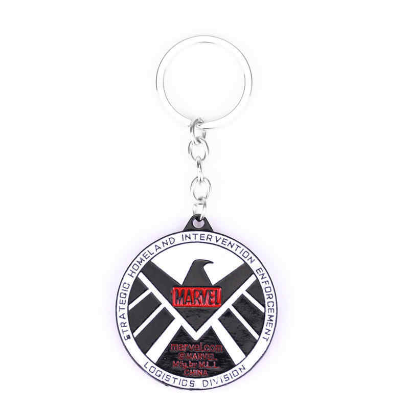 MQCHUN Movie Jewelry The Marvel Avengers Agents of S.H.I.E.L.D. Keychain Agents of Shield Badge Eagle Logo Key Chain Keyring