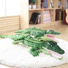 105/165cm Stofftier Echt Leben Alligator Plüsch Spielzeug Simulation Krokodil Puppen Kawaii Ceative Kissen für Kinder Weihnachten geschenke