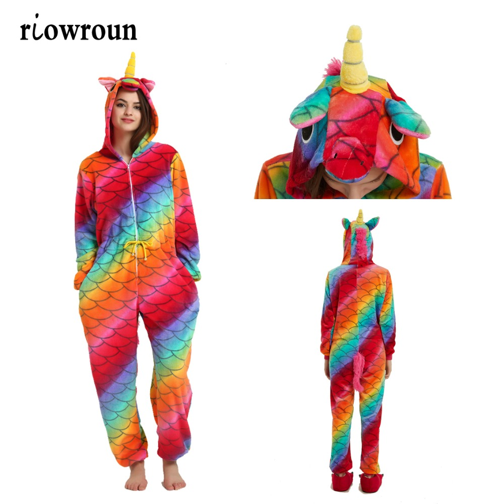 Riowroun Adult Women   Pajamas   Unicorn Kigurumi Christmas Animal Flannel Cartoon Sleepwear   Pajamas     Set   Pikachu Stitch Deer   Pajamas