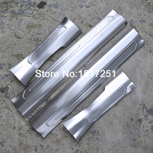 4PCS Inside Door Sill Scuff Plate Welcome Pedal Stainless Steel Car Styling Accessories For Renault kadjar 2015 2016 2017 стоимость