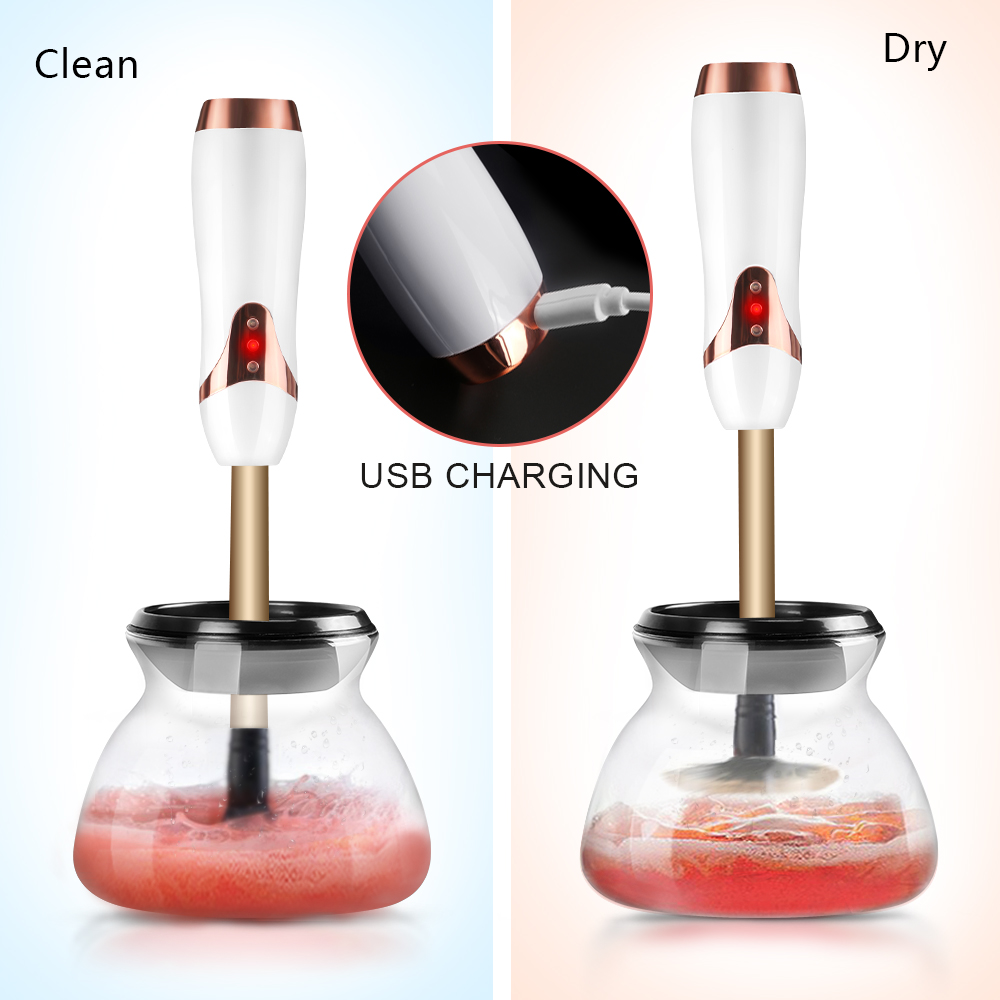 Rechargable Facial Cleansing Brush Machine Makeup Brushes Cleanser and dryer Electric Washing Tools electric facial cleansing brush face pore brush cleaner cleanser massager cleaning machine for washing makeup foundation s3940
