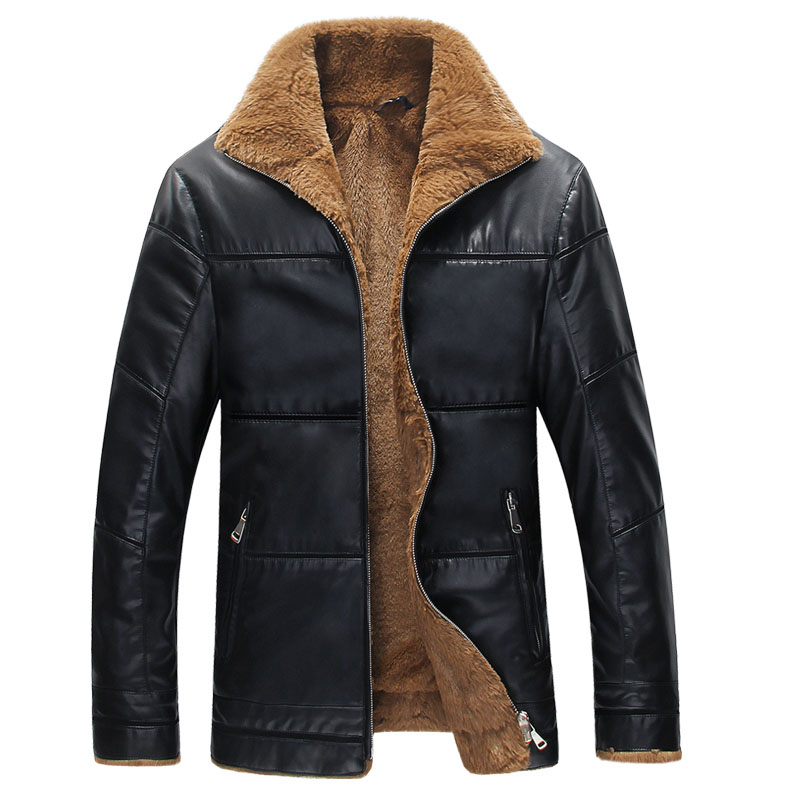 Aliexpress.com : Buy Winter Leather Jacket Men Thickening Warm ...
