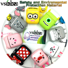 Vsidea Cartoon Wireless Earphone Case For Apple AirPods Silicone Charging Headphones Cases Airpods Protective Cover