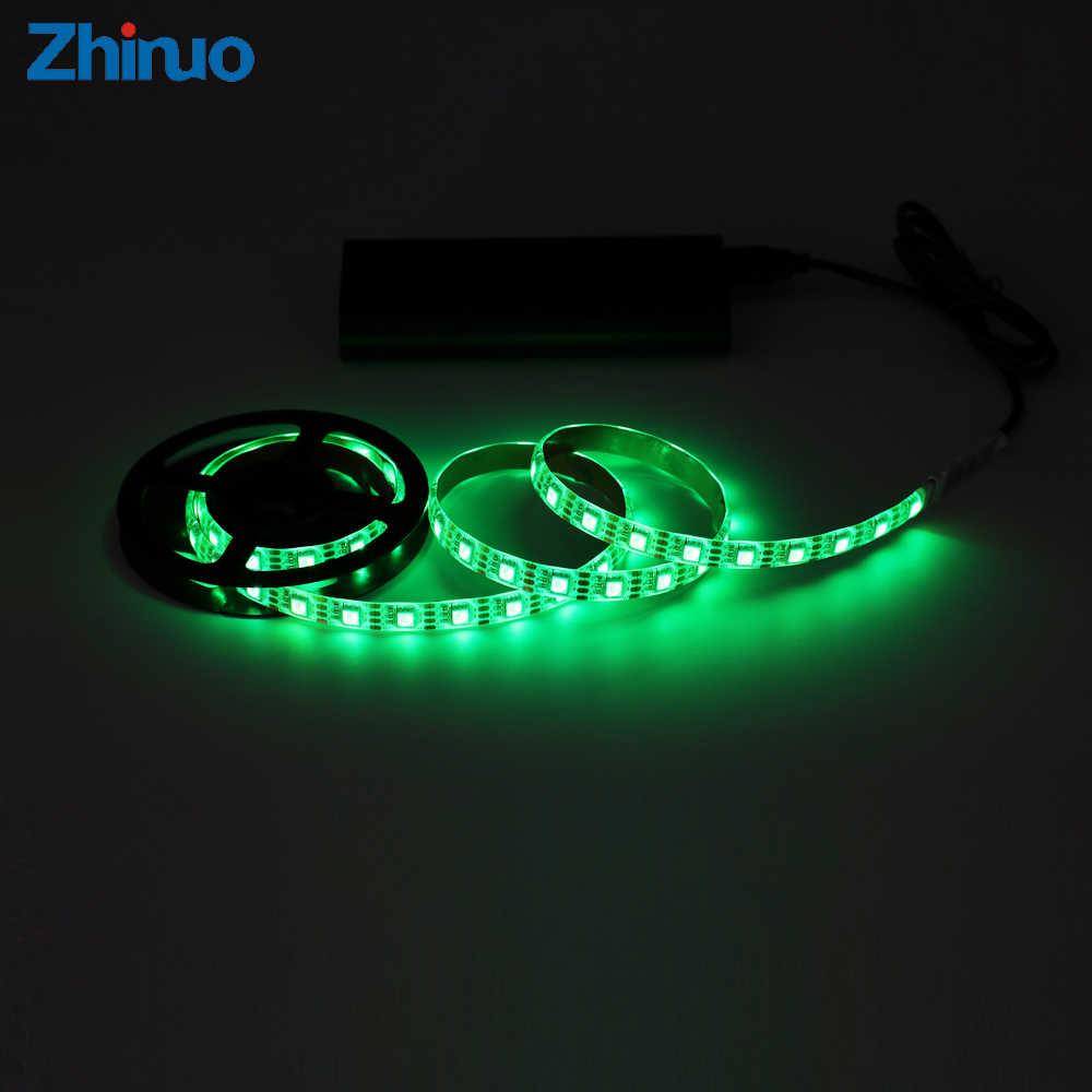 LED bande bande USB DC5V SMD5050 TV bureau rétro-éclairage 5050 5 V RGB LED bandes armoire lumière moniteur bricolage fond intelligent avec 3 clés