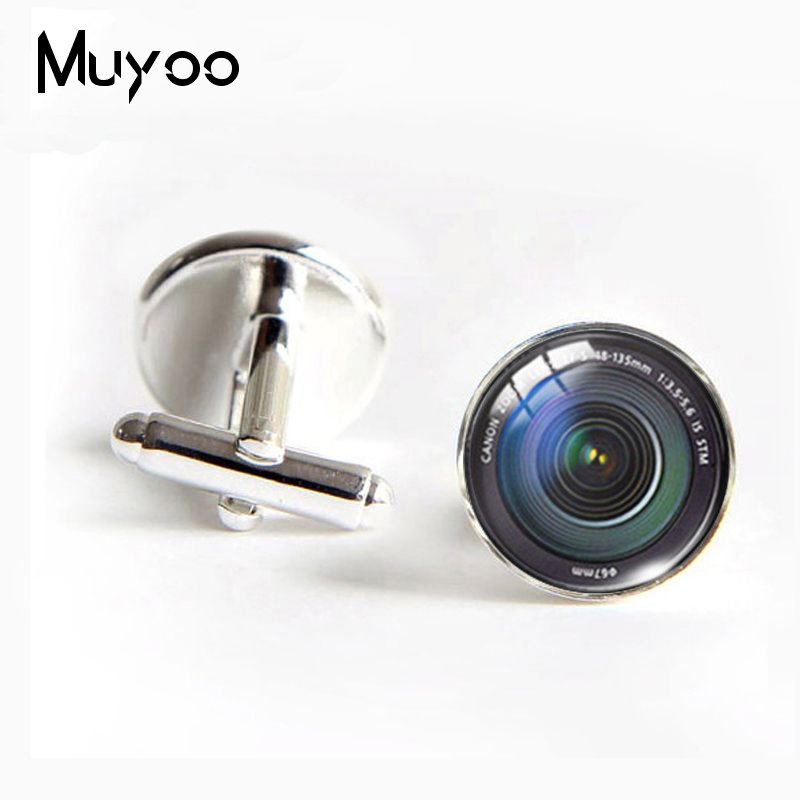 New Fashion J-269 Wholesale DSLR Lenses Cufflinks Camera Lens Cuff Link Cufflinks For Mens Brand Cuff Button(China)