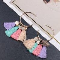 Earrings -- Retro Tassel Popular Semicircle Ethnic Romantic Earrings # SE1080