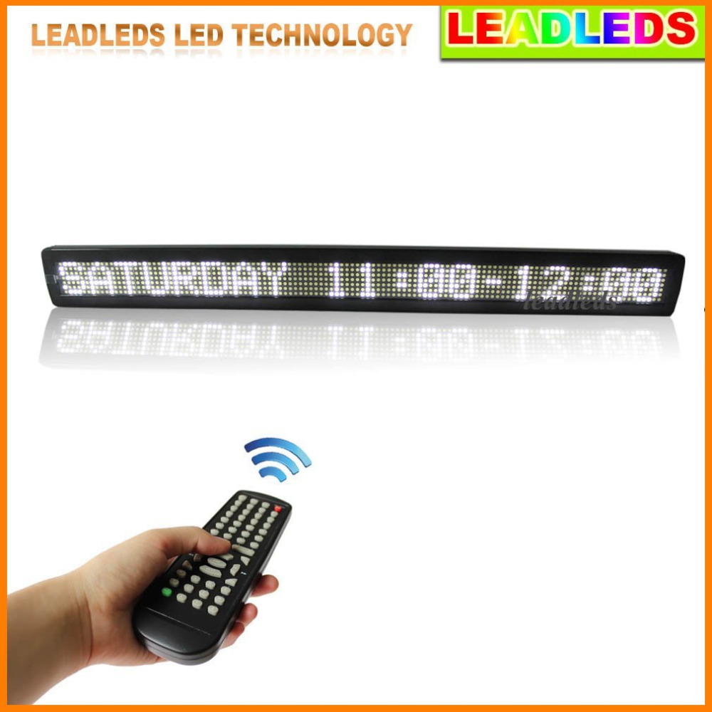 White Led Display Board  Indoor Programmable Scrolling Message Led Sign Board For Business And Store