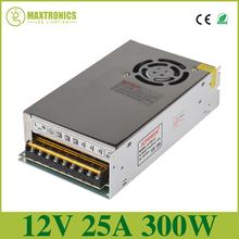 2016 Best quality 12V 25A 300W Switching Power Supply Driver for LED Strip AC 110 240V