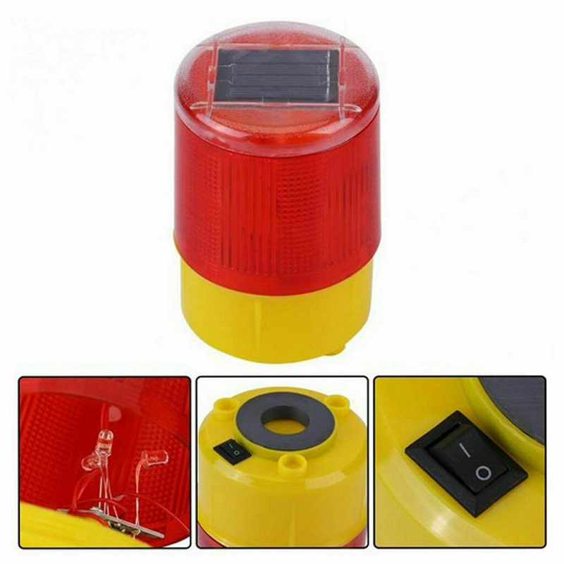 Solar Warning Light Strobe Light Traffic Warning Road Cone Light LED Night Roadblock Construction Lamp LED Safety Semaphore Lamp