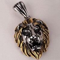 Lion Necklace For Men Women 316L Stainless Steel Pendant W Chain GN06 Biker Jewelry Wholesale