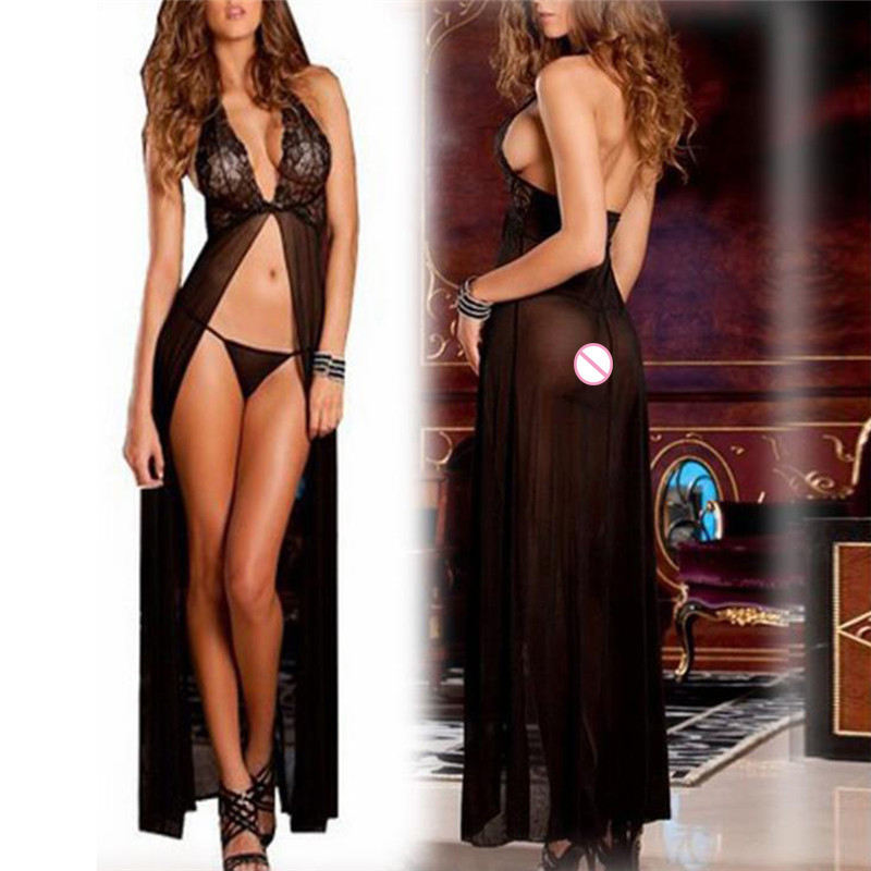 Women Pyjamas <font><b>Set</b></font> <font><b>Sexy</b></font> <font><b>Lingerie</b></font> <font><b>Hot</b></font> Balck <font><b>Lace</b></font> <font><b>Lingerie</b></font> <font><b>Dress</b></font> <font><b>Underwear</b></font> Babydoll Sleepwear G-string image