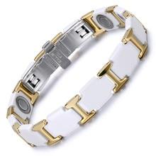 Jewelry Ceramic Tungsten Steel Bracelet Magnet Valentines Day Couple Trend