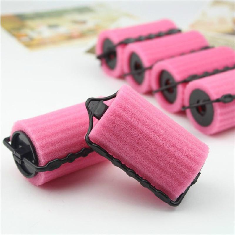 Купить с кэшбэком 6pcs/set Curler Makers Soft Foam Bendy Twist Curls DIY Styling Hair Rollers Tool for Women Accessories