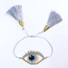 Shinus Wholesale 10pcs/lot MIYUKI Bracelet Lucky Evil Eye Miyuki Seed Beads Festival Fashion Jewels Handcraft Jewellery Bohem 19