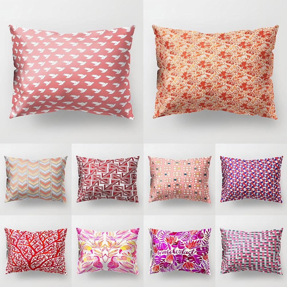 Tree Bird Geometric Pattern Pillow Cover Cushion Case Home Car Sofa Hotel Decor