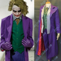 Batman The Dark Knight Joker Movie Cosplay Costume Full Suit Jacket Shirt Vest Pants Tie