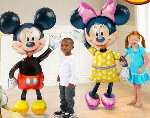 52'' Minnie Mouse Airwalker Jumbo Foil Balloon Mickey mylar balloon minnie mouse&mickey mouse party supplies - Amelia's store