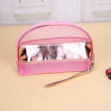 suonayi Yarn Makeup Bags Woman Transparent Lace Cosmetic Bags Travel Portable Wash Essenti
