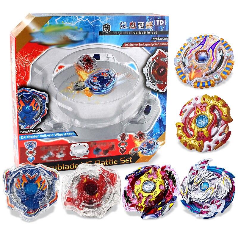 3 estilos girar Tops giroscopios explosión estadio de Bayblade de fusión metálica 4D cuchillas juguetes hoja estallido conjunto # E