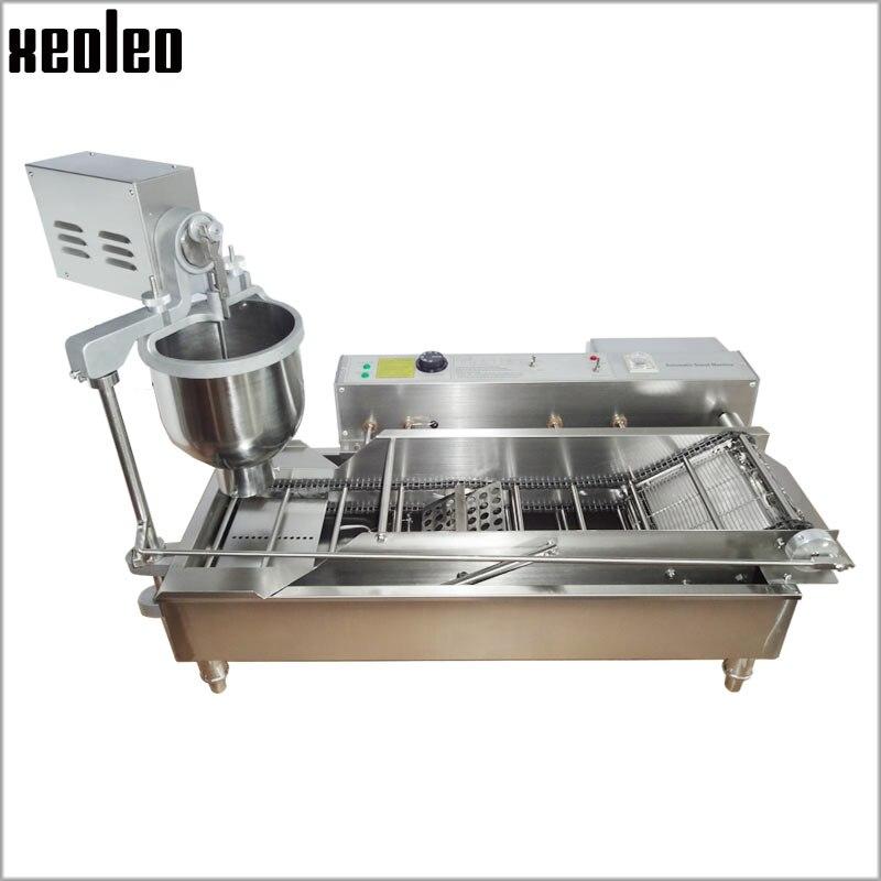 XEOLEO machine à frire beignet électrique Machine à beignet en forme de boule machine à beignet Machine à frire beignet système de comptage automatique complet 3 set moule