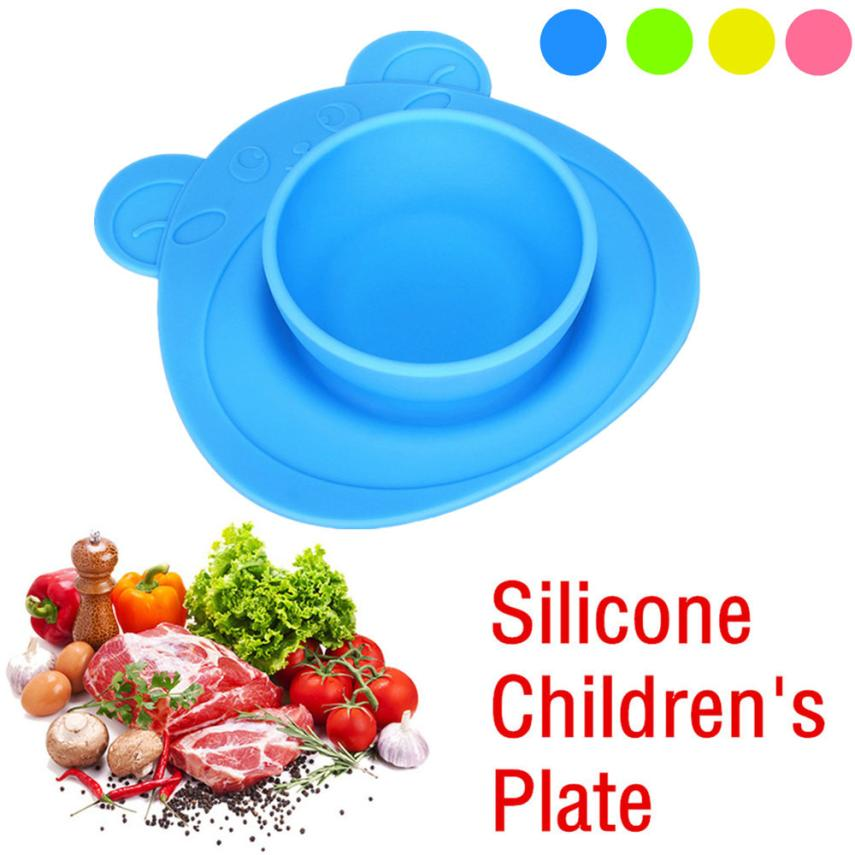 2018 TOP FASHION Kids One Piece Silicone Placemat Plate Dish Food Tray Table Mat for Bab ...