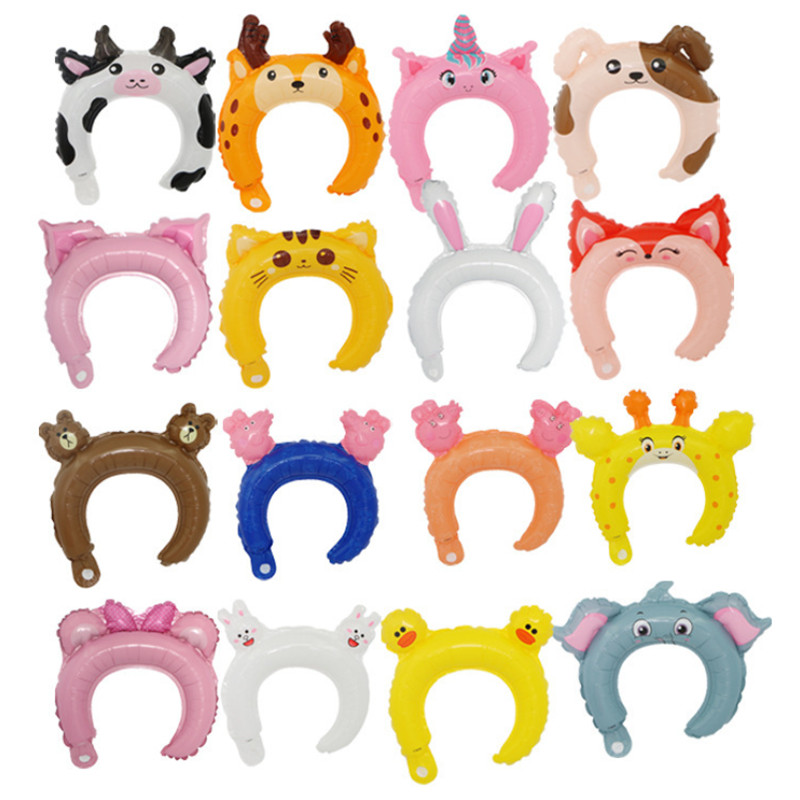 10pcs Cute Animal Tiara Headband Foil Balloon Frog Panda Fox Baby Shower Happy Birthday Wedding Party Children 39 s Toys Decoration in Ballons amp Accessories from Home amp Garden