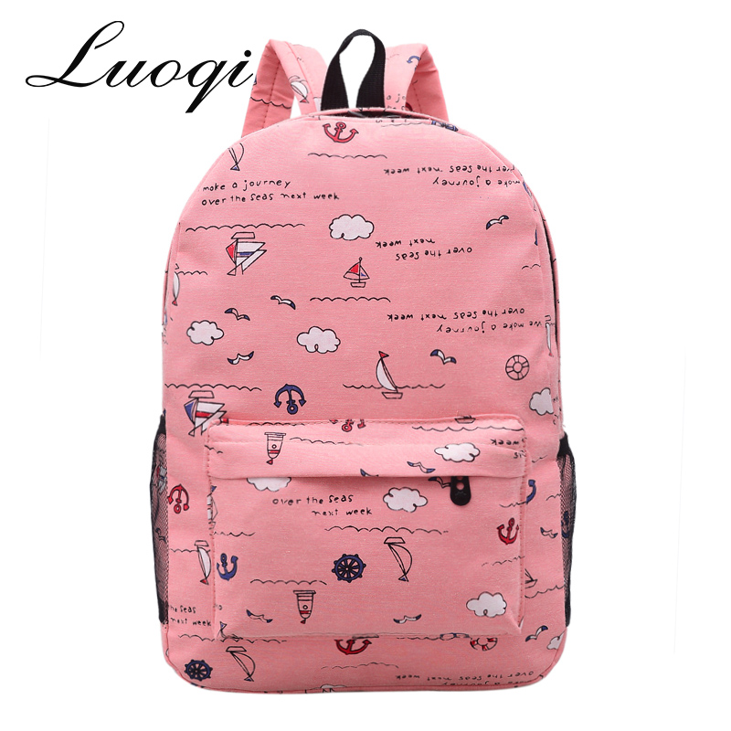 Fashion Large Capacity Women Bags High Quality Canvas Women Bags School Bag For Teenager Girls Women Casual Style Back Pack