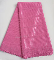 Top Class 5 Yards Original Swiss Lace Soft Polish Lace Cotton 100 African Sewing Fabric For
